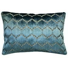 Rodeo Home Eliza luxury Geomtric Cut Velvet lumbar Pillow