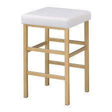 Porch   Den Moscato Gold 26 inch Backless Stool  Retail 106 99 white