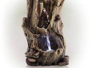 Alpine Corporation Rainforest Tabletop Fountain with lED lights