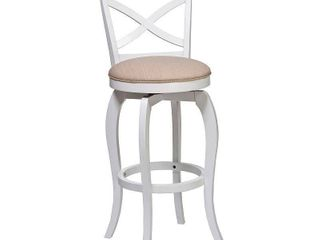 30  Ellendale Swivel Barstool Wood White   Hillsdale Furniture