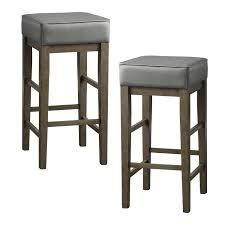 Hebron Square Stool  Set of 2  Retail 117 99 grey