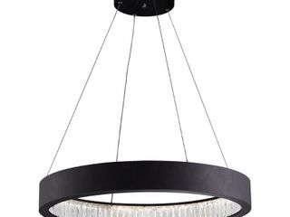 CWI lighting  lED Chandelier Matt Black