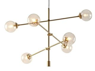 Carson Carrington Tomten 6 light Sputnik Chandelier   Gold