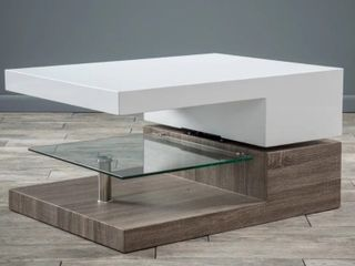 Christopher Knight Home   Rectangular Mod Coffee Table with Glass