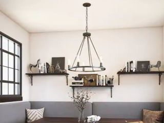 The Gray Barn lake View 5 light Black Modern Rustic Black Chandelier   23 5x23 5