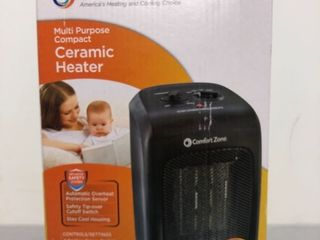 Comfort Zone Ceramic Heater  Black  CZ446WM