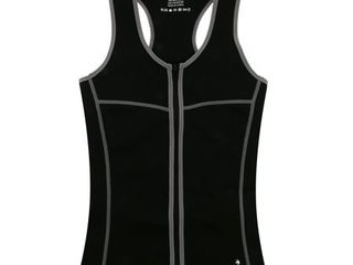 SaunaFX Women s Neoprene Slimming Vest with Microban Xl   Black