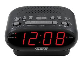 Nelsonic AM FM Digital Tuning Clock Radio