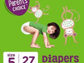 Parent s Choice Diapers  Size 5  27 Diapers