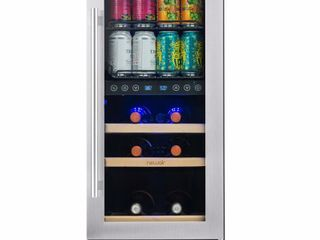 NewAir   Premium 9 Bottle Dual Zone Wine Cooler   Stainless steel