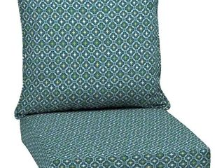 Arden Selections Alana Tile Outdoor Deep Seat Set   46 5 in l x 24 in W x 5 75 in H