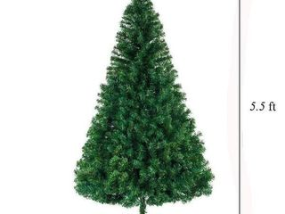 5 8ft Artificial Christmas Tree with Stand for Indoor and Outdoor Holiday Decoration   5 5 Foot
