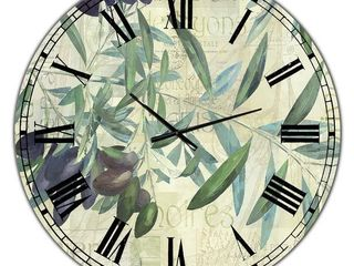 Designart  Olives de Nyons  Cottage Wall Clock   38 in  wide x 38 in  high