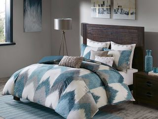 Ink Ivy Alpine Reversible King Chevron Stripe Print Comforter Set