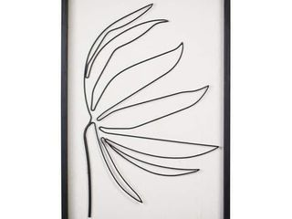 Stratton Home Decor Serene ll Metal and Wood Frame Wall Art