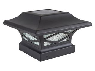 Classy Caps SlK807 Kingsbridge 4 25  Tall led Solar Post light