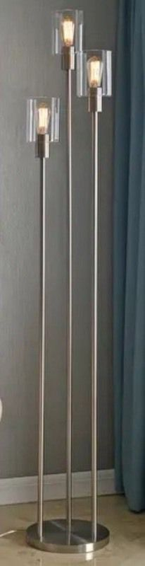 Strick   Bolton Mosley Brushed Steel 73 inch Torchiere