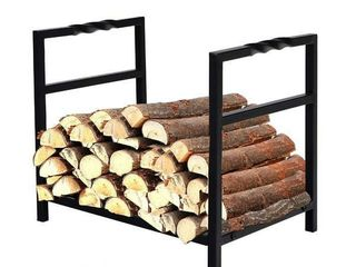 PHI VIllA 16 Inch Indoor Outdoor Firewood Racks log Rack  Wavy