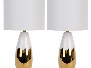 Greer Dipped Ceramic Table lamp   Set of 2