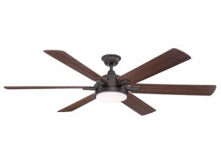 Home Decorators Collection Carden 66 in  lED Espresso Bronze Ceiling Fan with light and Remote Control