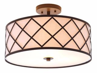 Elizabeth Metal lED Flush Mount  Oil Rubbed Bronze White