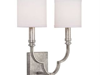 Austin Allen   Co   Two light Candle Arm Wall Sconce Antique Silver Finish