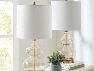 510 Design   Ellipse Gold Table lamp  Set of 2