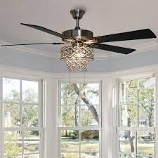 River of Goods 52Double Braid Crown lED Ceiling Fan with light