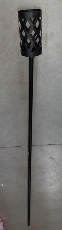 Five 63 inch Tiki Torch Black Metal Holders