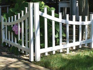 Vinyl Railing  Corner Accent Fence