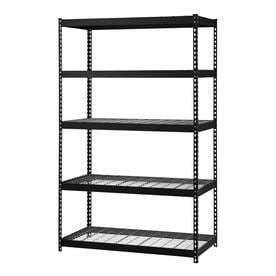 Steel Storage Rack w  5 Adjustable Shelves