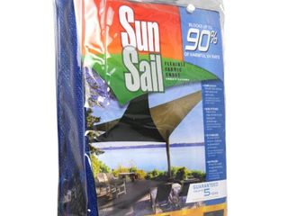 Easy Gardener 11 8 ft  Heavy Duty Triangle Sun Sail Garden Sun Shade Canopy Fabric in Blue