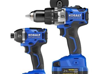 Kobalt 2 tool 24 volt Max Brushless Power Tool Combo  Charger And Battery Not Included