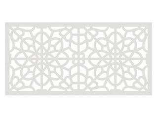 Fretwork White Vinyl Decorative Screen Panel