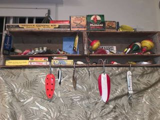 Hunting and Fishing Display Shelf With Contents location Shelf 1B