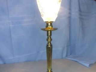 Crystal Topped Table lamp Tested And Working