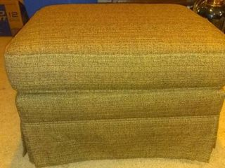 Nice Brown Ottoman With Striped Hints Of Color