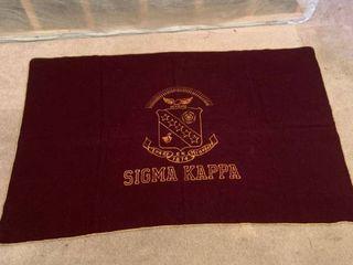 Vintage Sigma Kappa Wool Blanket location 1C