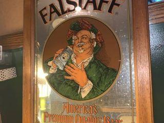 Vintage Falstaff Beer Mirror location Basement BR