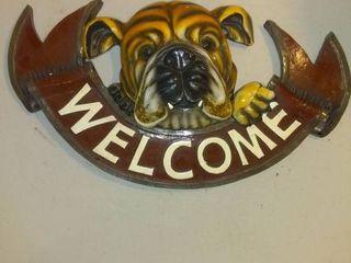 Nice Bulldog Welcome Home Door Or Wall Plaque