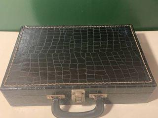Vintage Faux Alligator 30 Cassette Tape Holder Case 2C