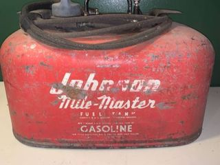 Vintage Johnson Mile Master 6 Gallon Outboard Gas Tank location Garage