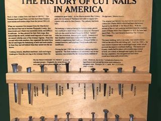 The History of Cut Nails In America Wall Display location 1B