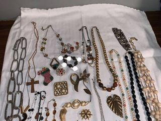 lot of Costume Jewelry Some Signed location Spare