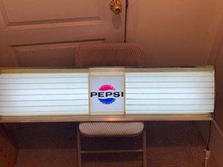 Vintage Pepsi Menu Board light Works location Basement BR