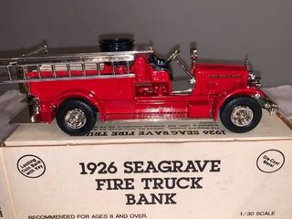Ertl 1 30 Scale 1926 Seagrave Fire Truck Bank location Spare