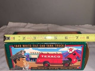 Texaco 1949 White Tilt Cab Tank Truck location Spare