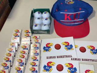 KU lot Hat Golf Balls Matchbooks Postcards location 1D