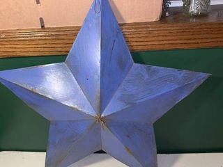 Decorative Blue Metal Star location 1D