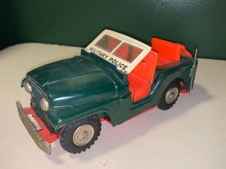 Vintage Tin Military Police Jeep location 1D